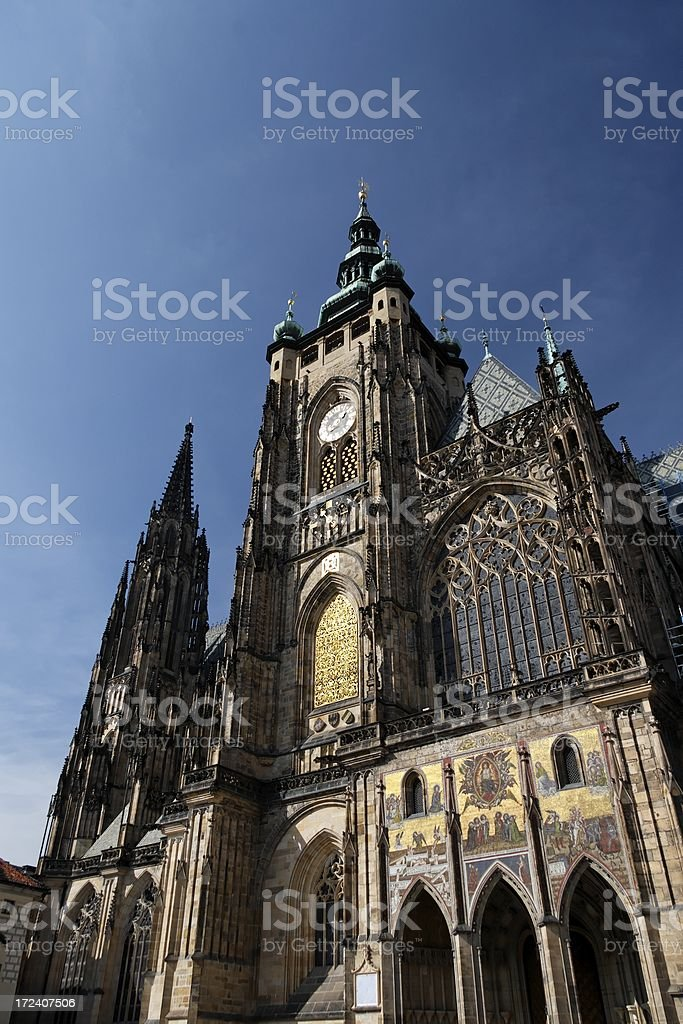 St. Vitus' Cathedral in Prague royalty-free stock photo