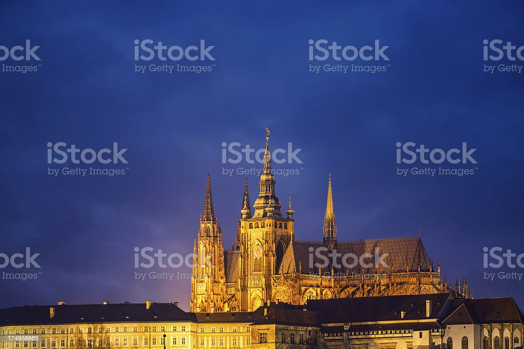 St. Vitus Cathedral In Prague royalty-free stock photo