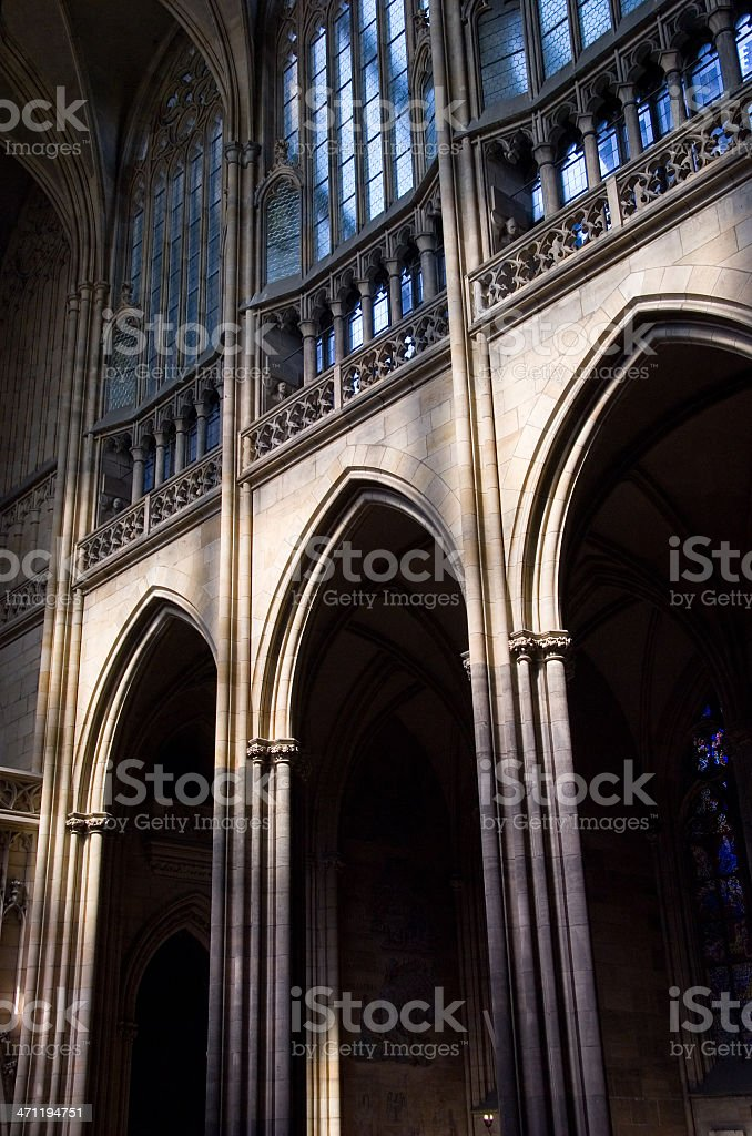 St. Vitus Cathedral Interior, Prague royalty-free stock photo