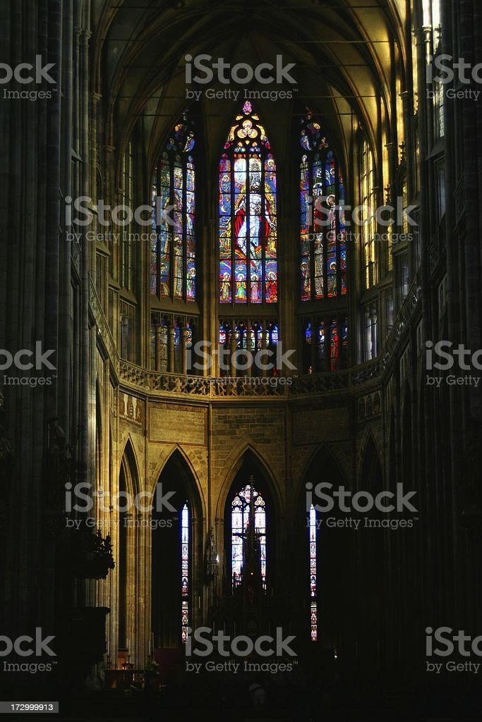 St Vitus Cathedral nave royalty-free stock photo