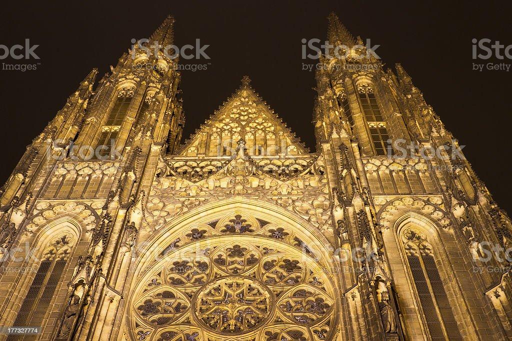 St. Vitus Cathedral, Prague, Czech Republic royalty-free stock photo