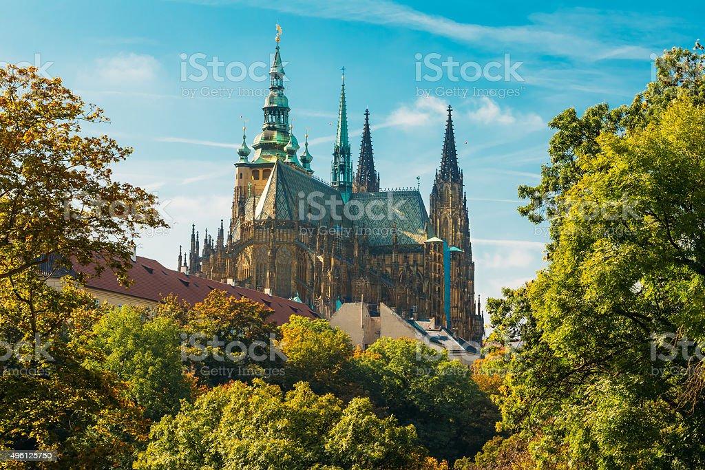 St. Vitus Cathedral Prague, Czech Republic stock photo