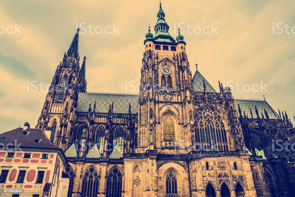 St. Vitus Cathedral Prague, Czech Republic. stock photo