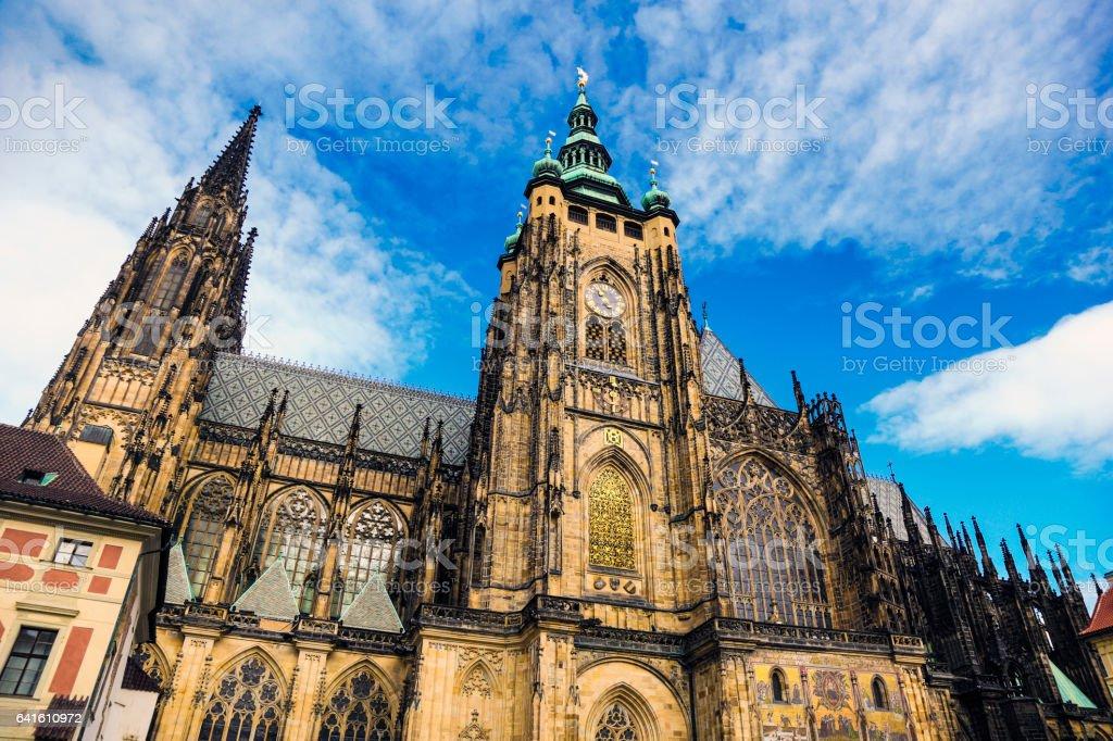 St. Vitus cathedral Prague stock photo
