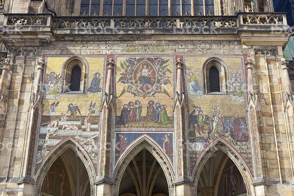 St. Vitus Church Detail royalty-free stock photo