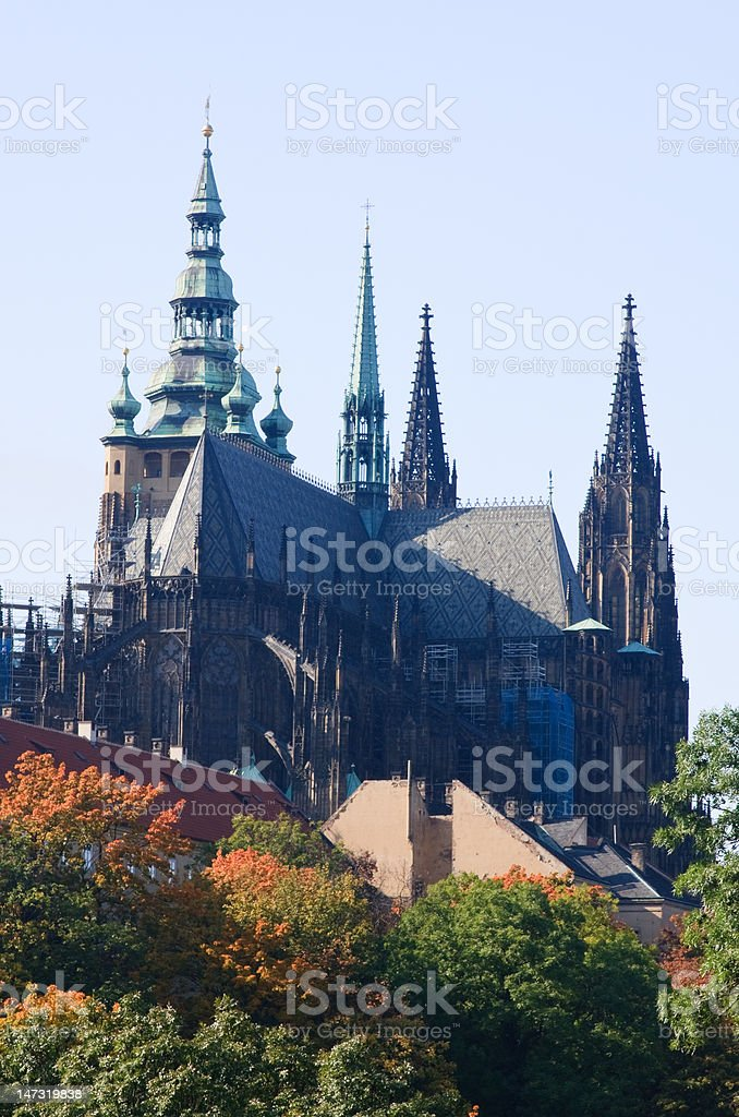 St Vitus's Cathedral, Prague Castle stock photo