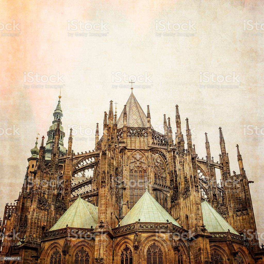 St. Vitus's Cathedral Prague Czech Republic stock photo