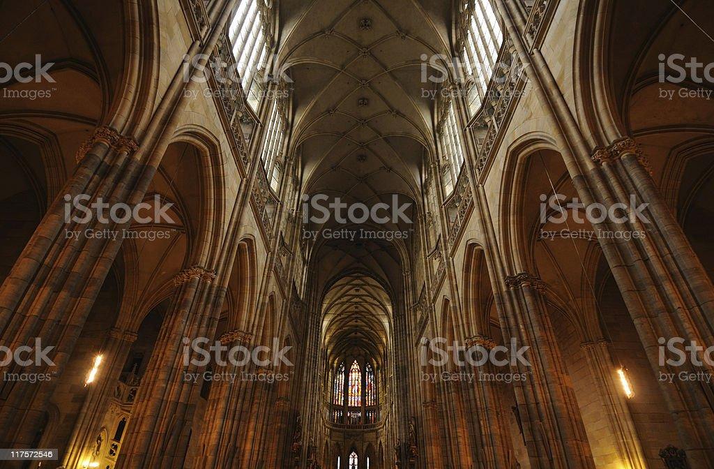 St Vitus's Cathedral, Prague stock photo