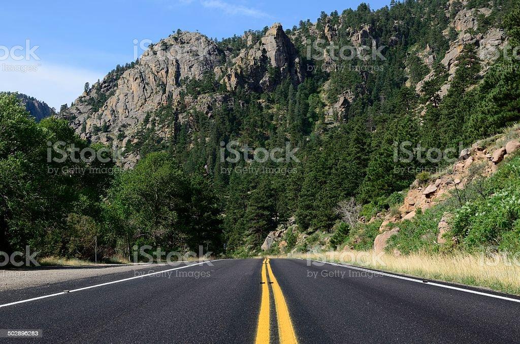 St Vrain Canyon, Colorado stock photo