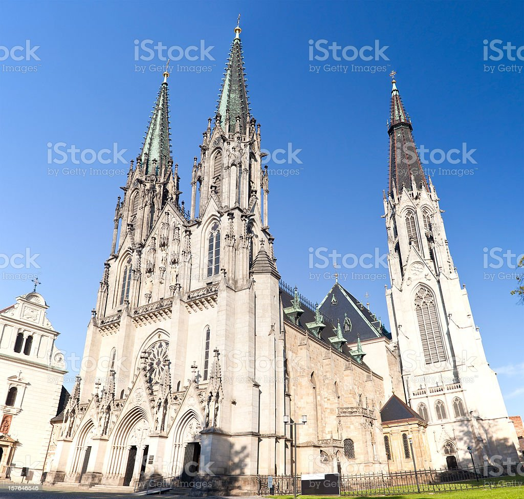 St. Wencelas Cathedral In Olomouc, Czech stock photo