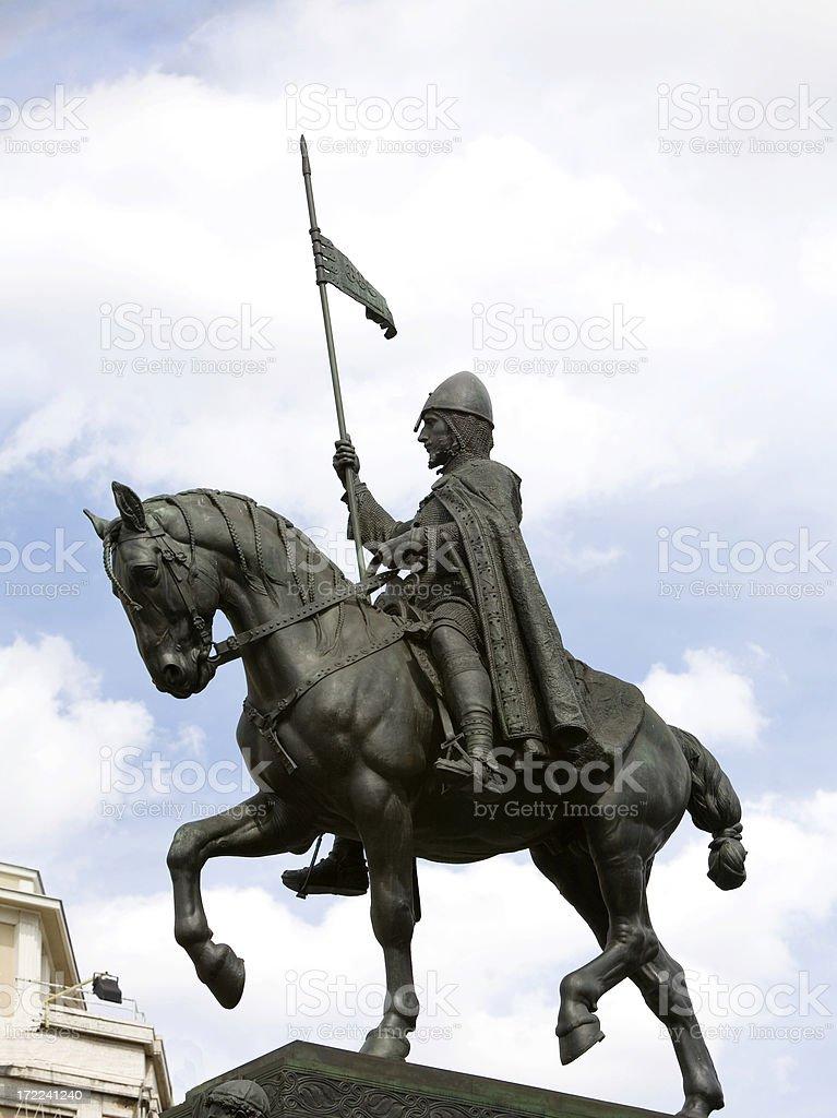 St  Wenceslas Monument in Prague stock photo