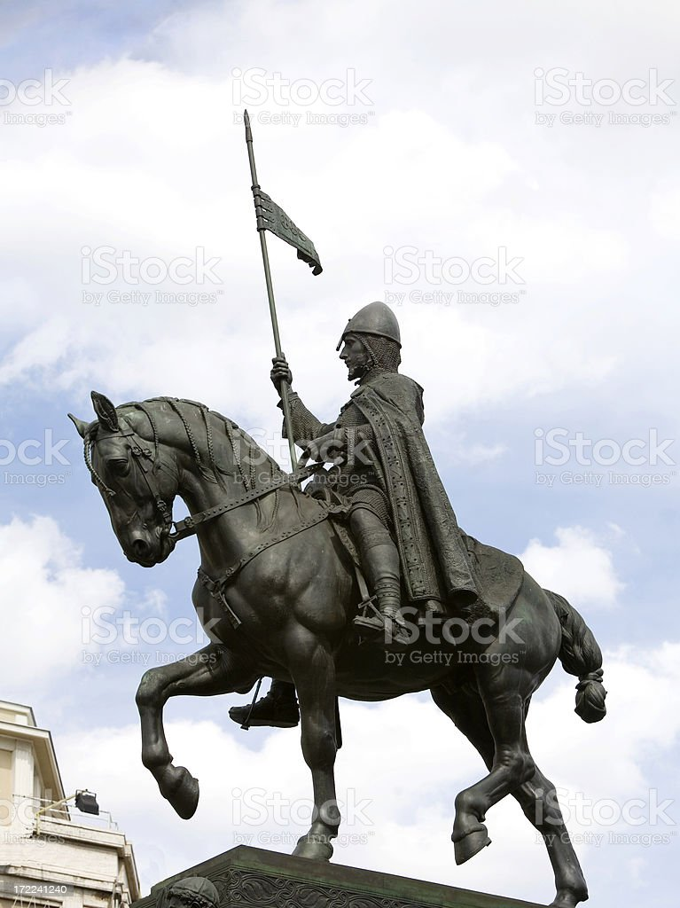 St  Wenceslas Monument in Prague stock photo
