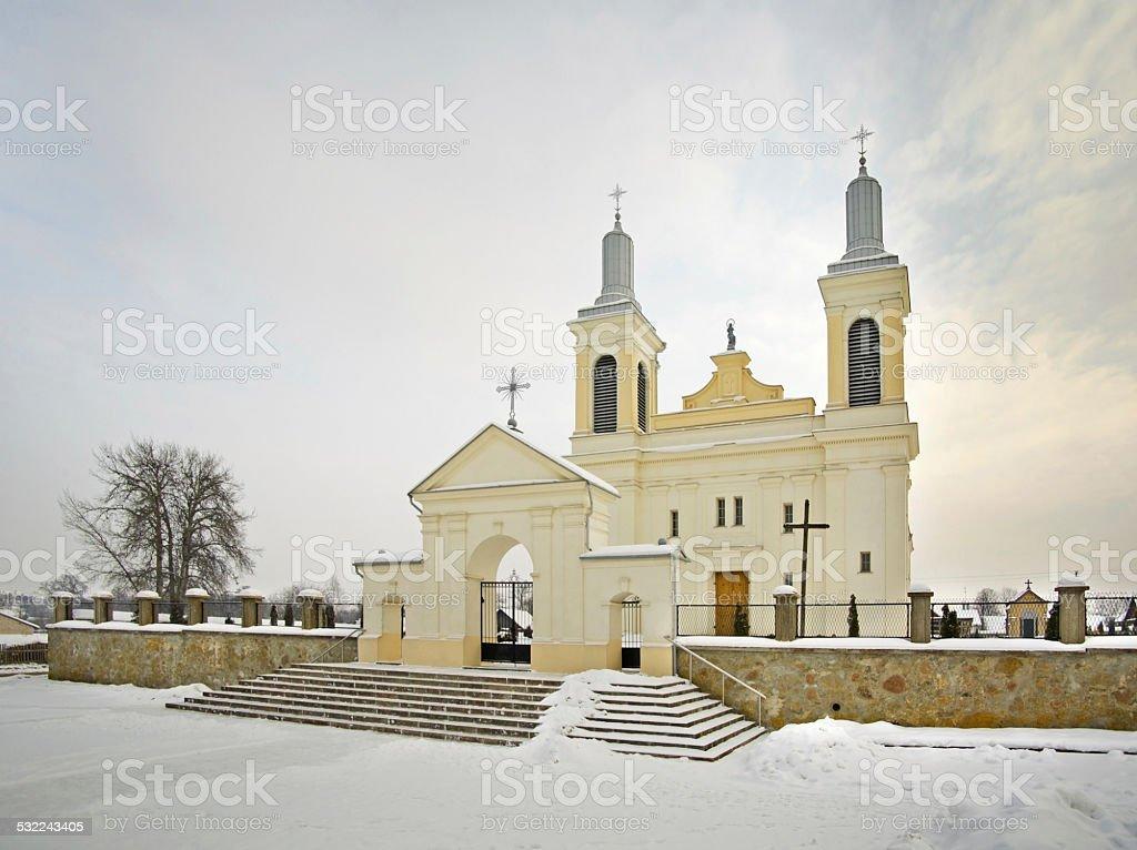 St. Wenceslaus Catholic Church in Vawkavysk stock photo