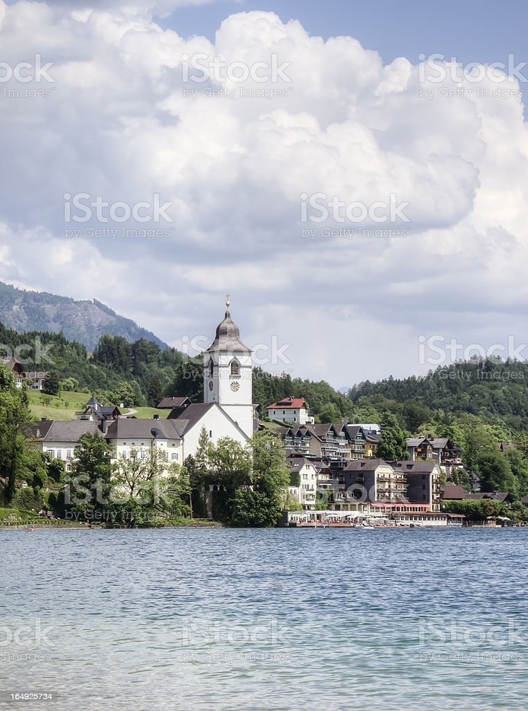 St. Wolfgang in Austria stock photo