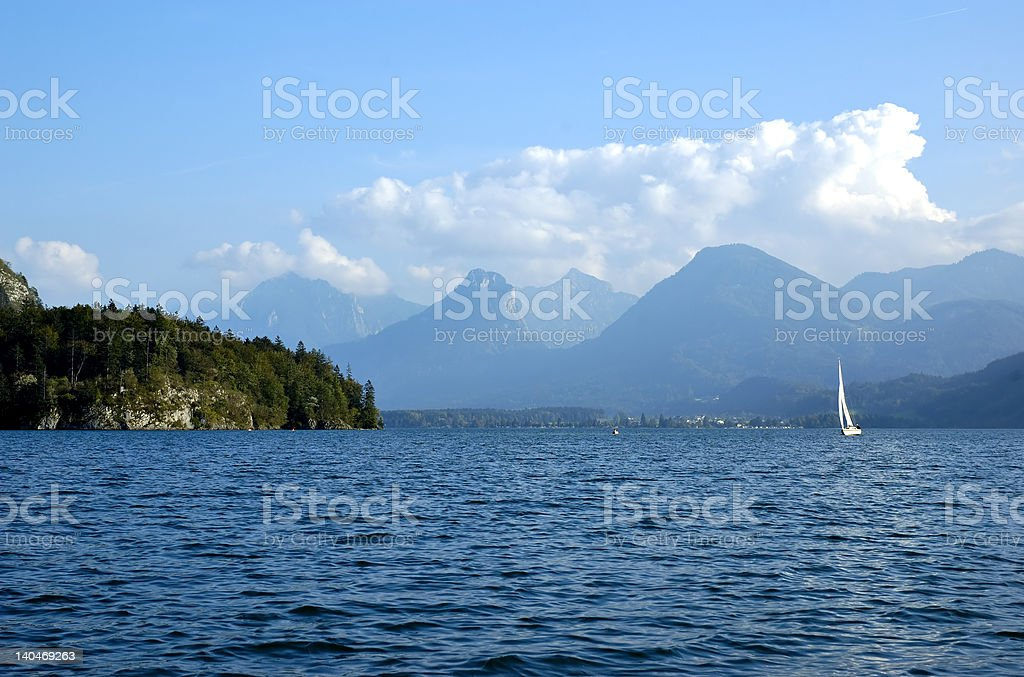 St Wolfgang lake in Austria royalty-free stock photo