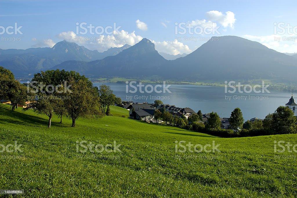 St Wolfgang lake in Austria royalty-free stock photo