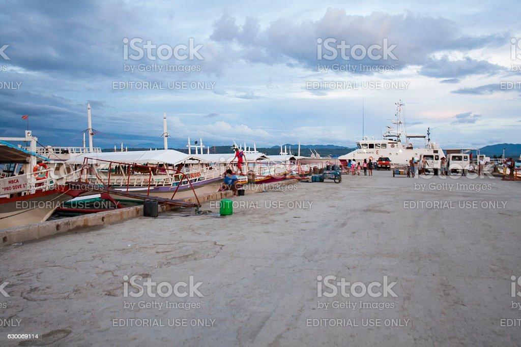 Sta. Ana Port in Davao stock photo