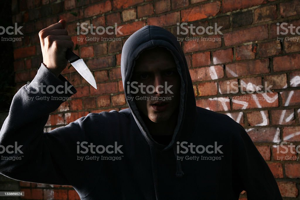 Stab Criminal stock photo