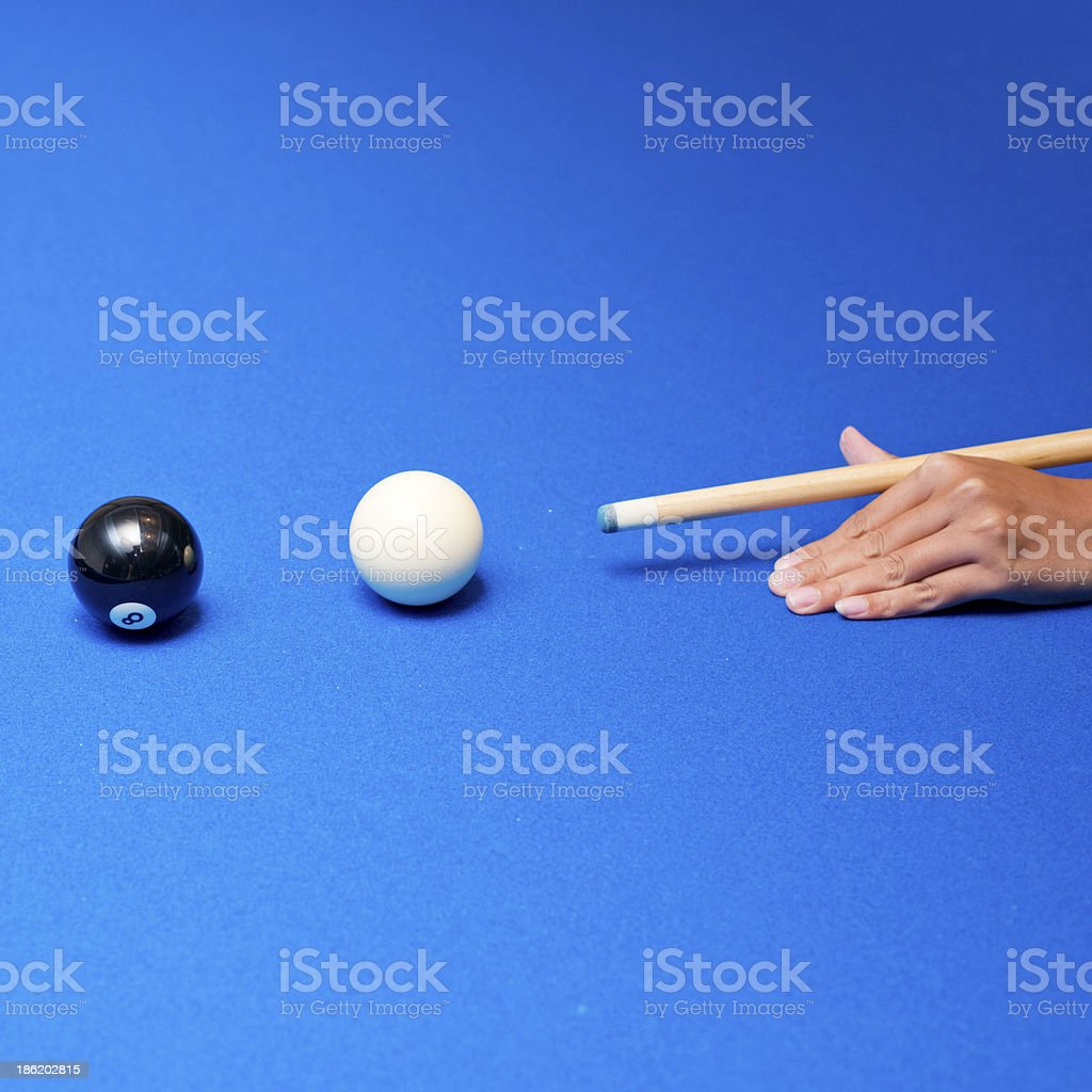 stabbed pool stock photo