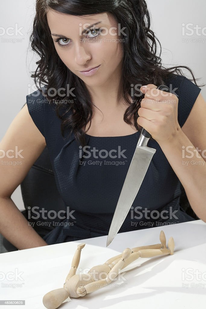 Stabbing Businesswomen royalty-free stock photo