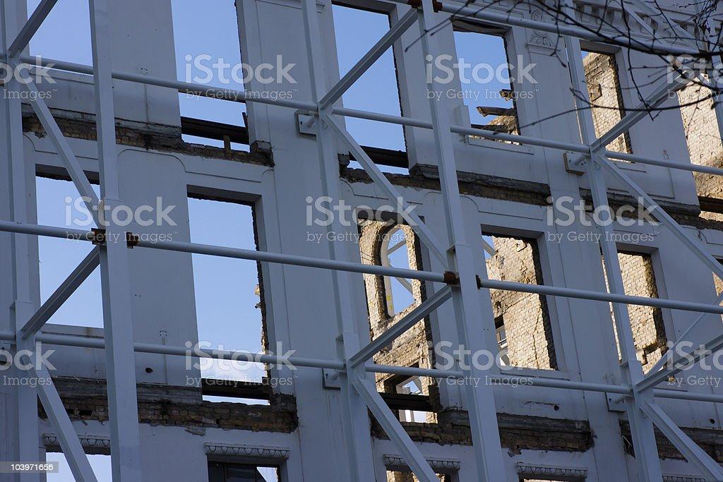 Stabilised Facade stock photo