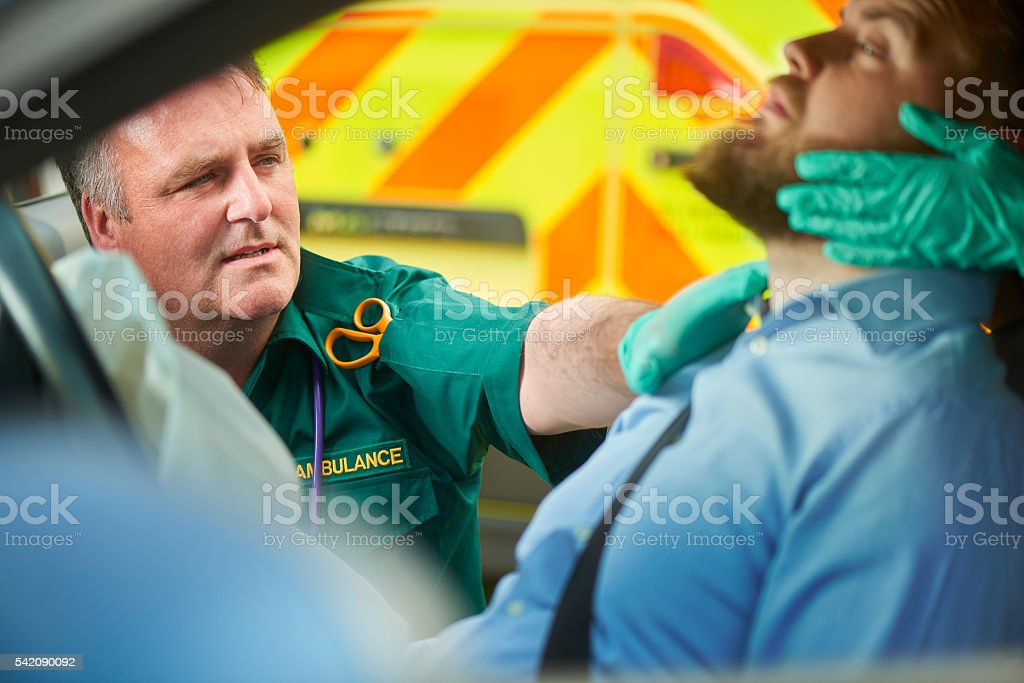 stabilising the casualty stock photo