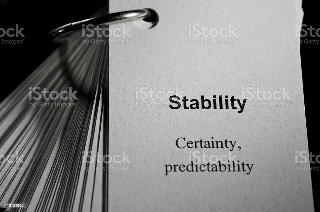 Stability Definition royalty-free stock photo