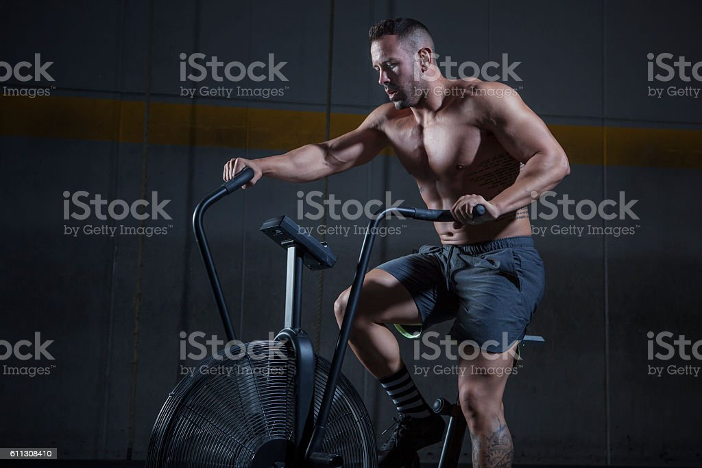 bicicleta estatica stock photo