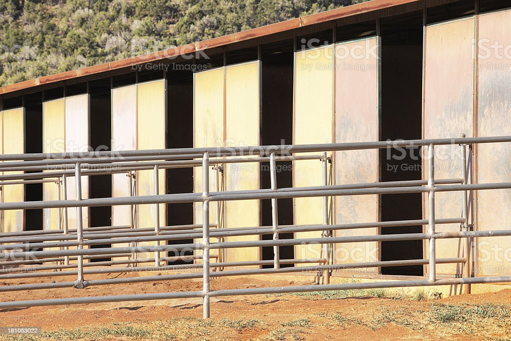 Stable Horse Stalls Corral Animal Pen royalty-free stock photo