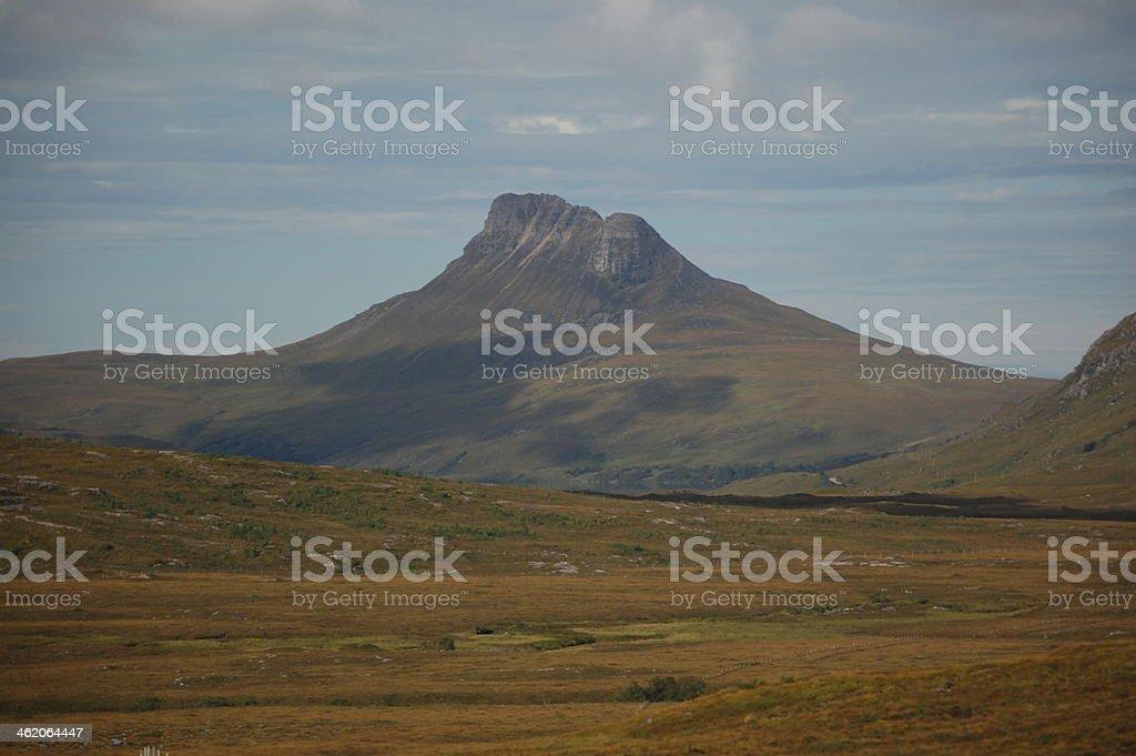 Stac Pollaidh mountain in Scotland stock photo