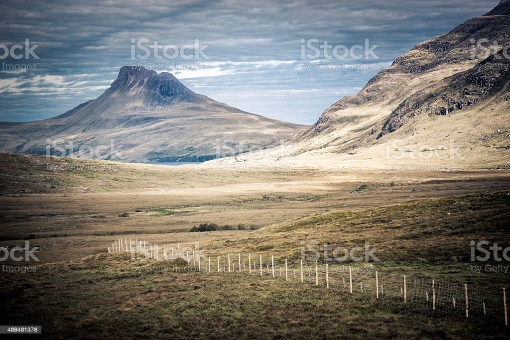 Stac Pollaidh (Stack Polly) Mountain in the Scottish Highlands stock photo