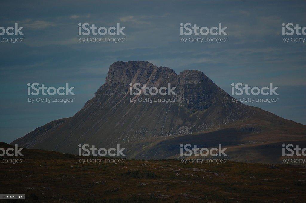 Stac Pollaidh mountain near Ullapool, Scotland. stock photo