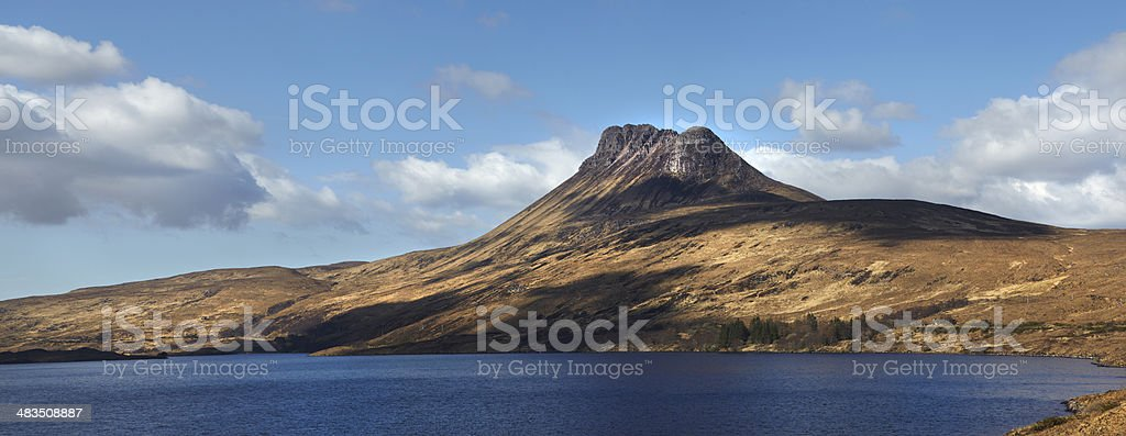 Stac Polliadh, Assynt, Scottish Highlands stock photo