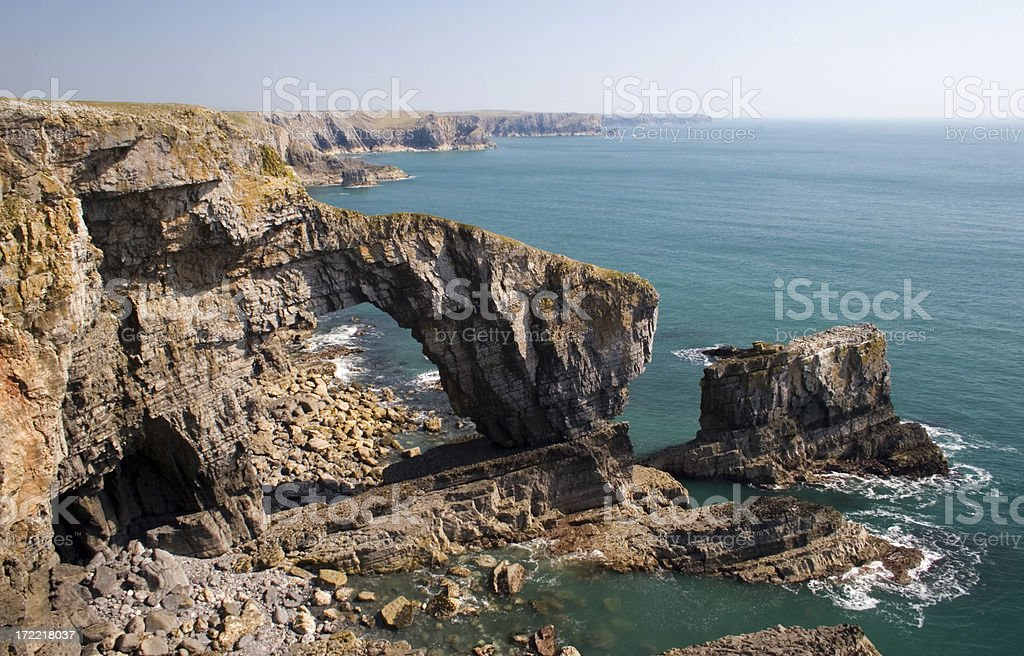 Stac Rock , Pembrokeshire royalty-free stock photo
