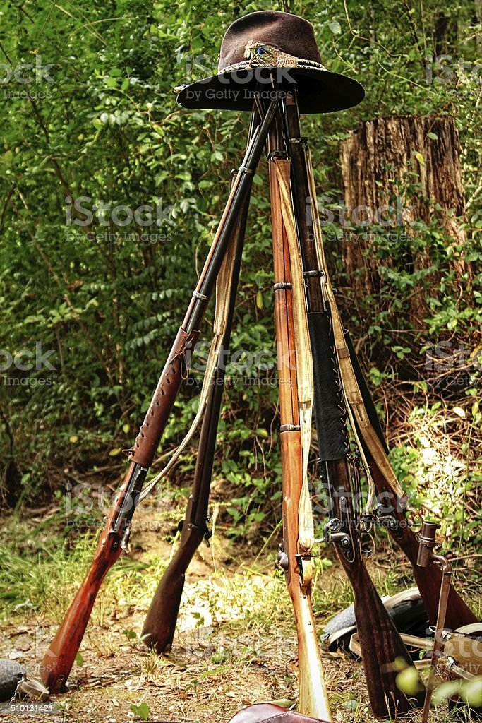 Stack Arms stock photo
