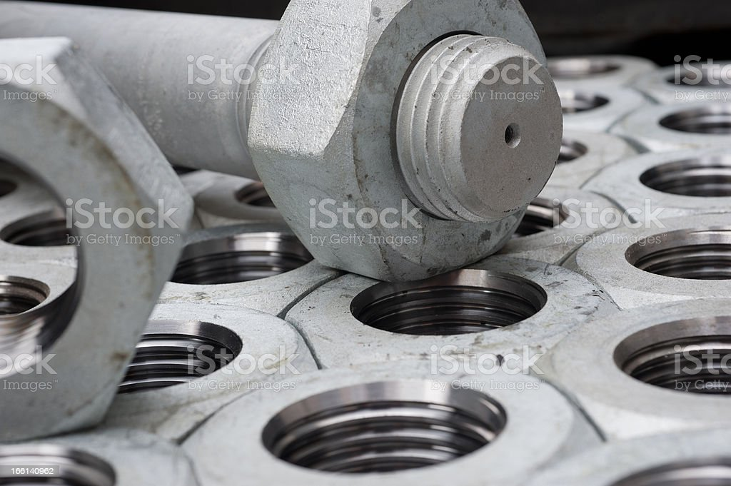 stack bolt and screw royalty-free stock photo