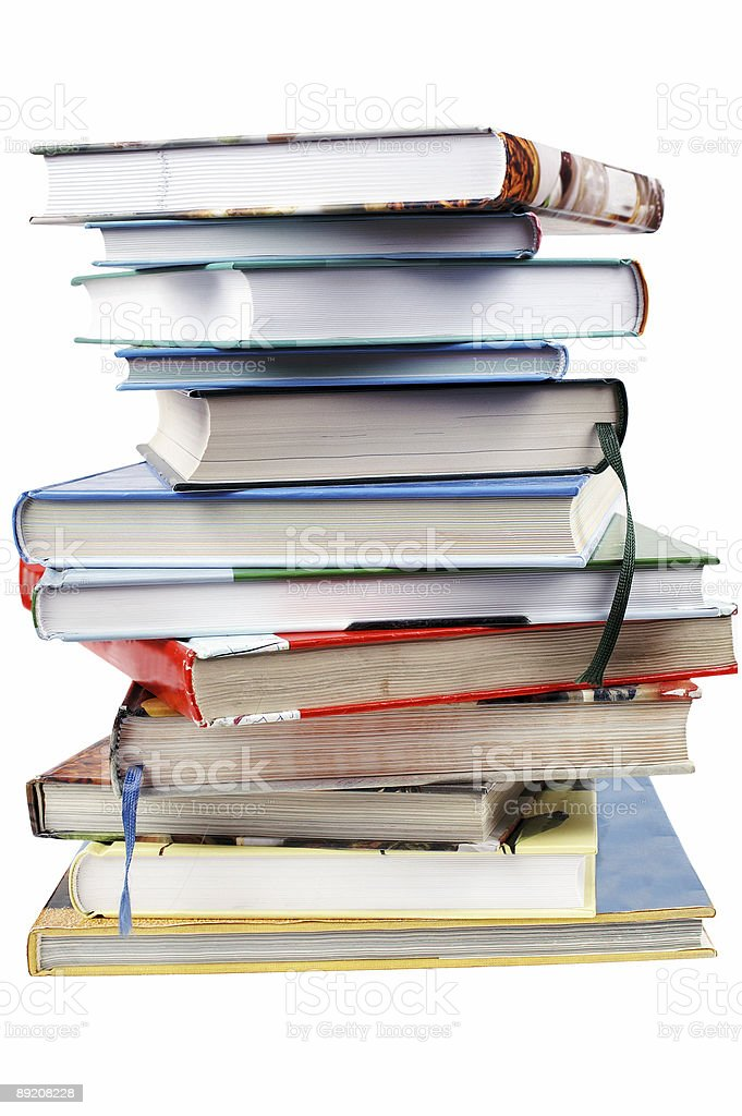 Stack book royalty-free stock photo