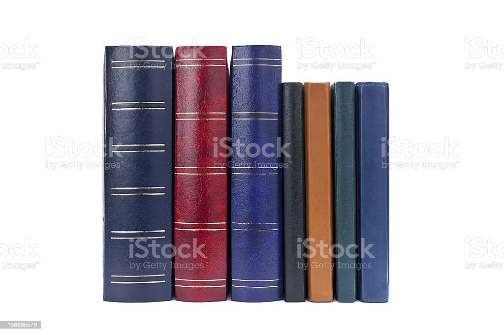 Stack  books isolated on white background royalty-free stock photo