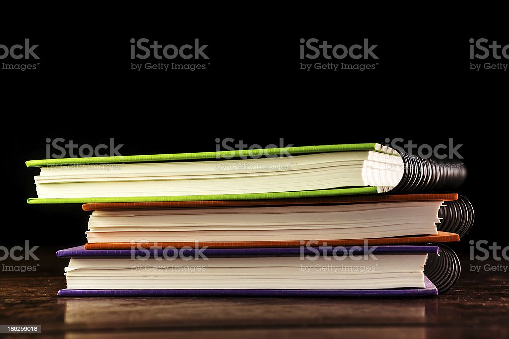 stack books with bright colors royalty-free stock photo