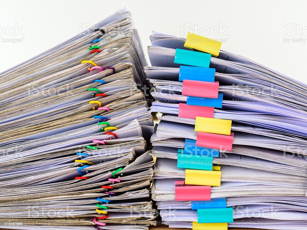 stack document of account include sales stock photo
