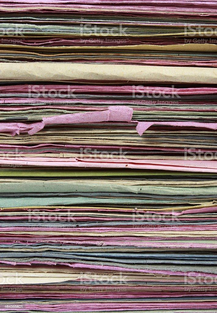 Stack file folder close up royalty-free stock photo