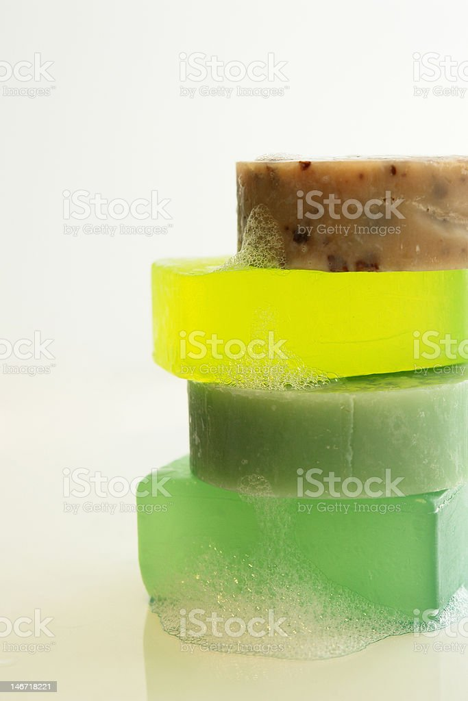 stack o soaps stock photo