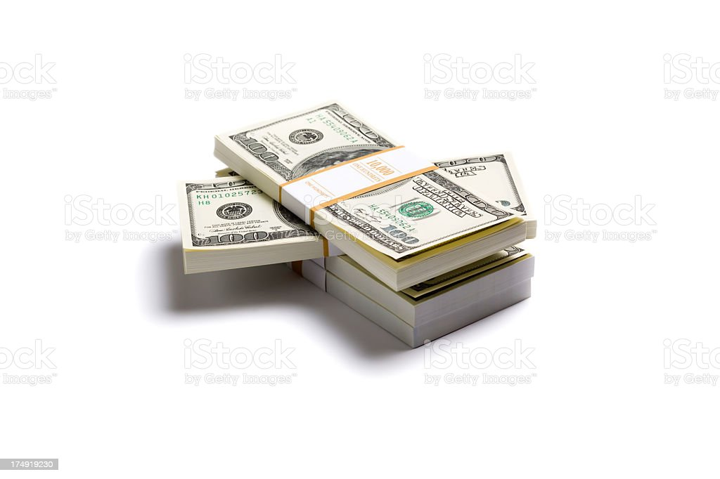 Stack of $100 banknote royalty-free stock photo