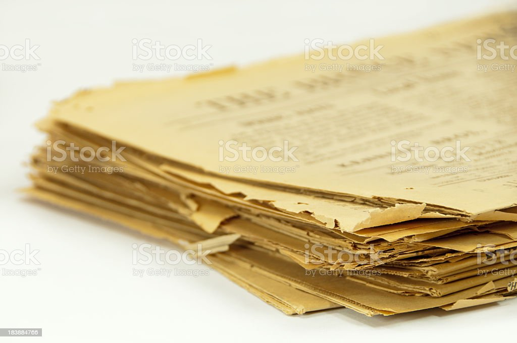 Stack of 1913 Newspapers stock photo