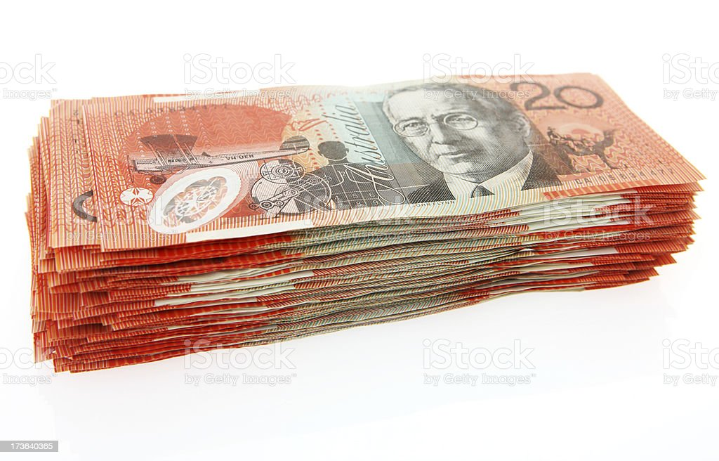 Stack of 20s royalty-free stock photo