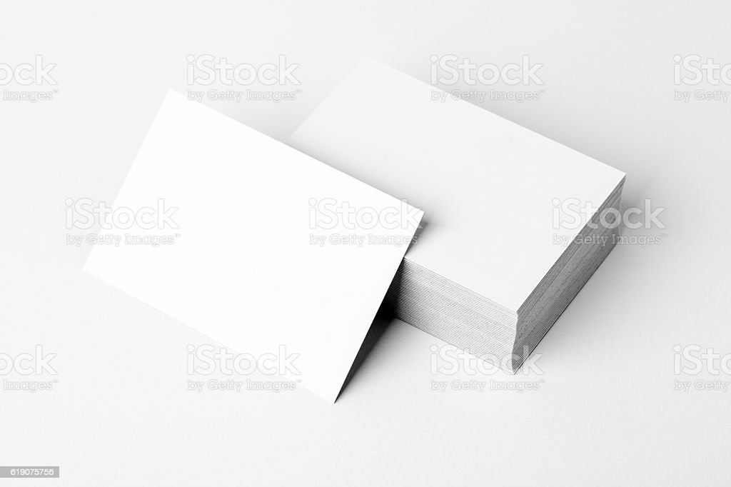 Stack of a blank business card stock photo