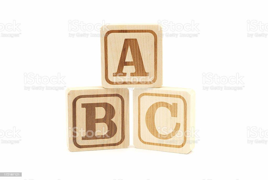 Stack of alphabet blocks royalty-free stock photo