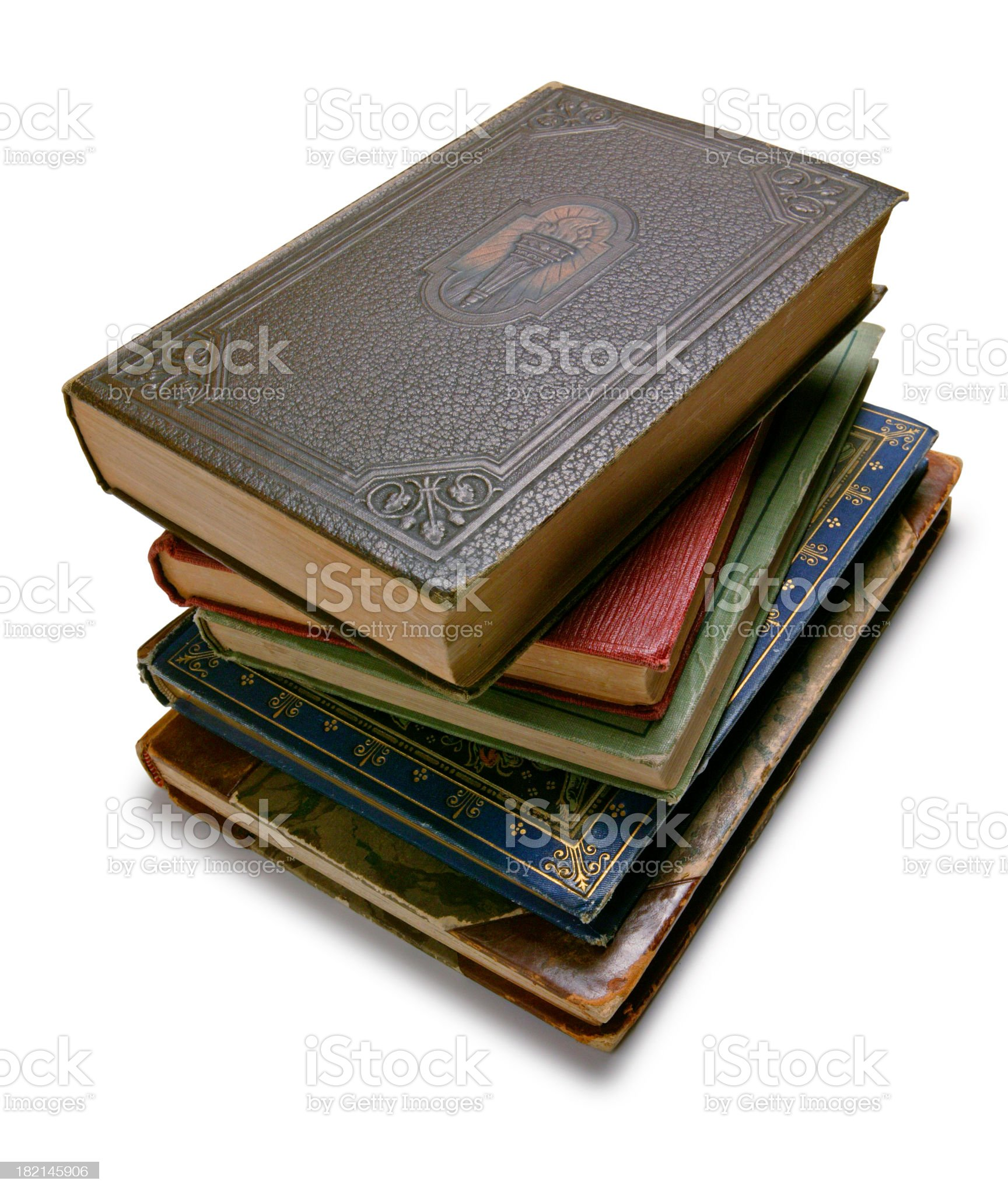Stack of Antique Books royalty-free stock photo