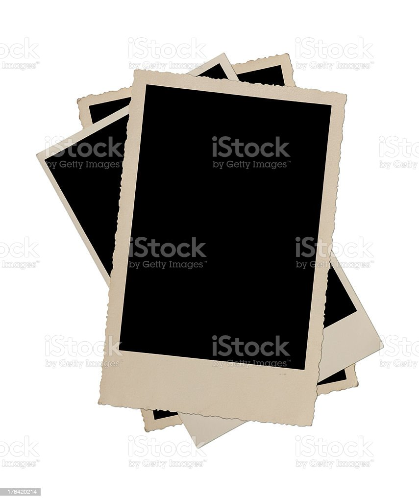 Stack of antique picture frames royalty-free stock photo