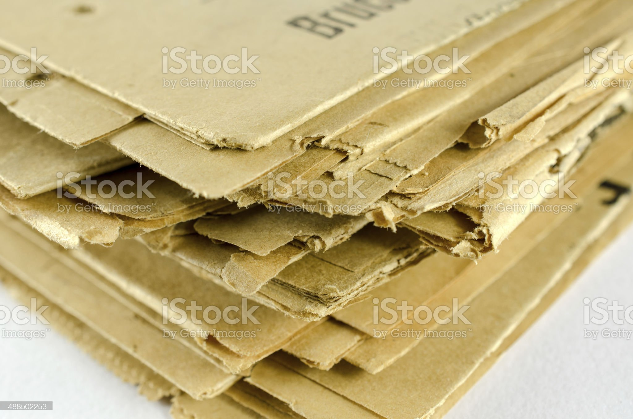 Stack of Archived Newspapers royalty-free stock photo